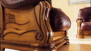 Detajl sedežne garniture