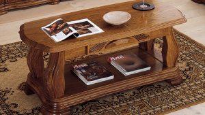Klubska mizica iz masivnega lesa