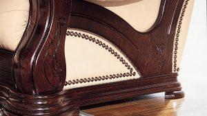 Rustikalne sedežne garniture iz masivnega lesa